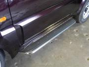 ТСС Пороги с площадкой (нерж. лист) 42,4 мм для Suzuki Jimny №...
