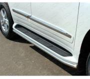 ТСС Защита порогов 42,4 мм (аналог Lexus LX570) для Toyota Land...