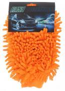 "Рукавица для уборки салона автомобиля ""Eva"", цвет: оранжевый, 26 х 19..."
