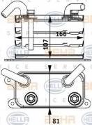 масляный радиатор двигательное масло - легковой автомобиль BEHR-HELLA...