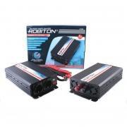 Инвертор ROBITON R1000 с 12 В, 1000 Вт с USB выходом, две евророзетки