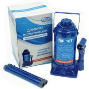 Домкрат AutoVirazh гидравлический 16 т бутылочный в коробке (синий)