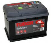 Аккумулятор TUDOR Technica 60 А/ч ОБР. 242x175x175 EN 540 TUDOR TB602