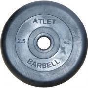 Блин для гантели и штанги Barbell MB ATLET d-26 2,5кг (MB ATLET d-26...