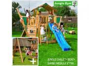 Уличные Jungle Gym Игровая площадка Jungle Chalet+Swing Module Xtra +...