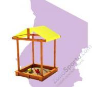 Детские игровые деревянные площадки Самсон. Песочница Дюна с крышей**