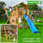 Детский городок Jungle Gym Chalet + Swing Module X'tra + Boat Module