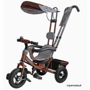 Велосипед 3-х колесный Mars MINI TRIKE надувные колеса коричневый...