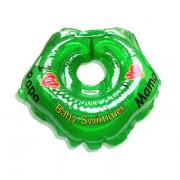 Детский надувной круг для купания зеленый полноцветный baby swimmer