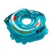 Детский надувной круг для купания голубой полноцветный baby swimmer
