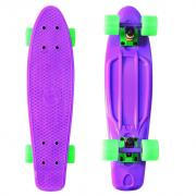 Скейтборд Y-SCOO Fishskateboard 22 с сумкой purple/green
