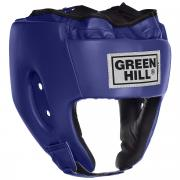 "Шлем боксерский Green Hill ""Alfa"", цвет: синий. Размер S (48-53 см)"