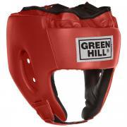 """Шлем боксерский Green Hill """"Alfa"""", цвет: красный. Размер XL (61-63 см)"""