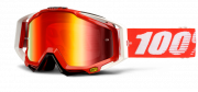 Очки 100% racecraft snowmobile fire red / mirror red vented dual lens...