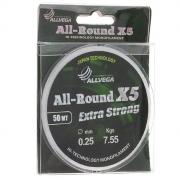 Леска Allvega All-Round X5 50m 0.25mm LAR5025