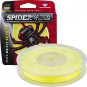 Леска плетеный шнур SPIDERWIRE STEALTH HI-VIS YELLOW 0,12 (137m.)