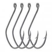 """Крючки рыболовные Cobra """"Catfish"""", цвет: черный, размер 6/0, 4 шт"""
