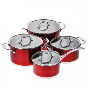 """Набор посуды """"Rainstahl"""", цвет: красный, 8 предметов. 1084RSPR"""