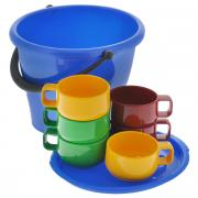 """Набор посуды """"Solaris"""", в ведре, 7 предметов"""