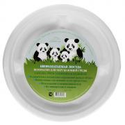 """Набор круглых био-тарелок """"Greenmaster"""", три секции, цвет: белый,..."""