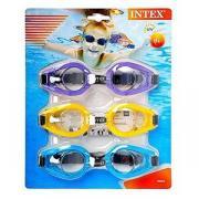 Набор из трех очков для плавания play goggles tri-pack, от 8 лет