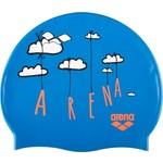 Шапочка для плавания Arena Print Jr (синяя)