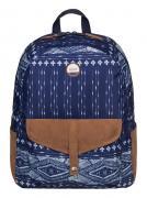 Рюкзак городской женский Roxy Carribean, цвет: синий, коричневый, 18...