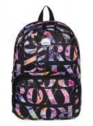 Рюкзак городской женский Roxy Always Core, цвет: черный, мульти, 8 л....
