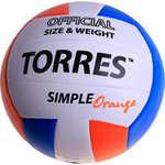 Мяч волейбольный любительский Torres Simple Orange арт. V30125, размер...