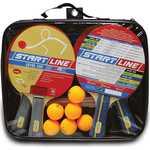 Набор теннисный Start Line ракетки Level 200 4шт, мячи Club Select...