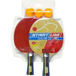 Набор теннисный Start Line ракетки Level 200 2шт, мячи Club Select 3шт