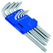 HE-50813488280 HEYTEC Набор изогнутых ключей TORX 9 шт. в пласт....