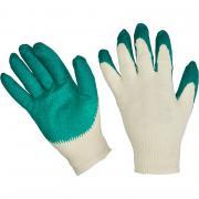 Перчатки х/б хозяйственные с латексной заливкой