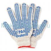 Перчатки Люкс Протектор ПВХ 5 нитей (446-004)