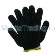 Перчатки Люкс Протектор ПВХ 5 нитей, черные (446-002)