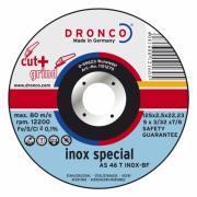 1123270 DRONCO AS 46 T Inox Cut+Grind отрезной круг по металлу резание...
