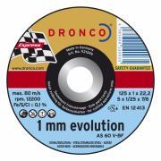 1121246 DRONCO AS 60 V отрезной круг по металлу 125x1x22,23