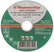 """Круг отрезной по металлу и нержавеющей стали """"Hammerflex"""", толщина 0,1..."""