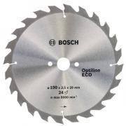Циркулярный диск Bosch 190x20/16x24 Optiline ECO 2.608.641.787