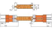 """WD 160/4 Комплект фрез для изготовления вагонки радиусной """"штиль""""..."""