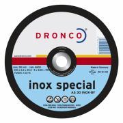 1123906 DRONCO AS 30 Inox отрезной круг по металлу 125x2,5x22,23