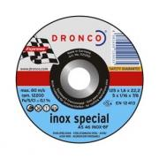 1183250 DRONCO AS 46 Inox отрезной круг по металлу 180x1,6x22,23
