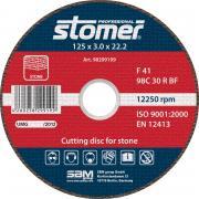 Диск Stomer CS-125 отрезной, по камню 125x3x22.2mm