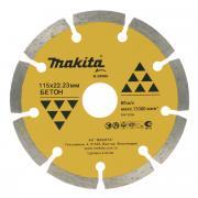 Диск алмазный Makita B-28086, сегментный, 115 мм
