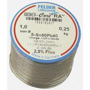 FLD-230217 Припой Felder Sn60Pb40 ISO-Core RA:2,5% 1mm 250г