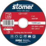 Диск Stomer CD-115T отрезной, по металлу 115x1.0x22.2mm