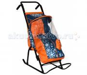 Санки-коляска R-Toys Снегурочка 2-P1 Снежинки