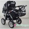 Детская коляска-трансформер Aliko MILANO черный с белыми узорами
