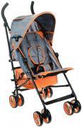 Melogo Детская коляска с ремнем для переноски цвет черный оранжевый