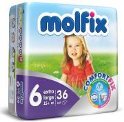 Подгузники Molfix Extra Large (16+ кг), 36 шт